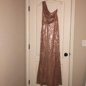 Dresses & Skirts - Rose Gold-One Shoulder Gown